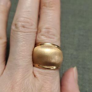 14k rose gold hollow ring